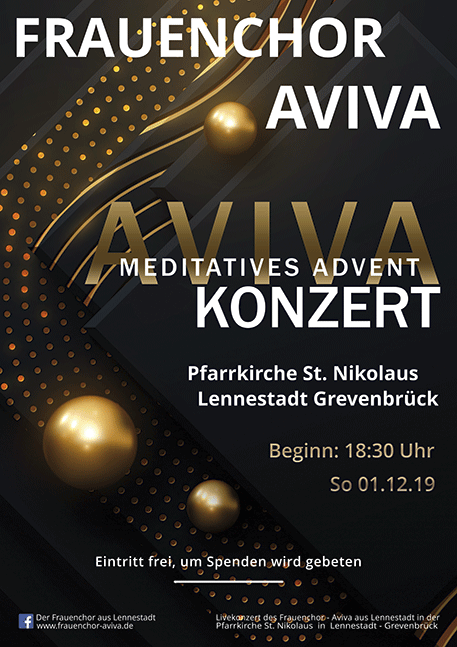 Meditatives Adventkonzert des Frauenchor Aviva 01.12.2019